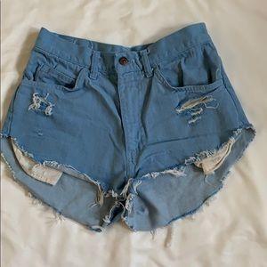 Levi's high rise cutoff shorts